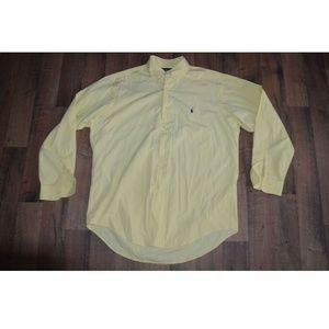 Ralph Lauren Mens Yarmouth Long Dress Shirt Sz 16